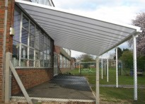 Longmead Primary School - Wall Mounted Canopy