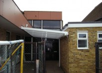 Harmondsworth Primary School - Wall Mounted Canopy