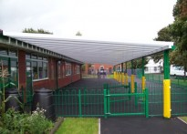 Oldswinford CE Primary School - Wall Mounted Canopy