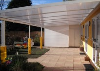 Rosslyn School - Wall Mounted Canopy