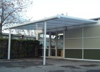 Rufford Primary School - Wall Mounted Canopy