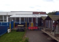 St Joseph's Catholic Primary School - Wall Mounted Canopy