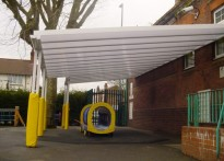 Springfield Primary School - Wall Mounted Canopy