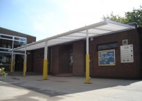 St George's C of E Primary School - Wall Mounted Canopy
