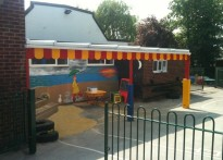 Twickenham Primary School - Wall Mounted Canopy
