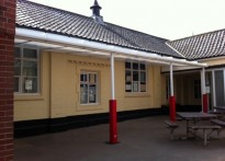 Attleborough First School - Wall Mounted Canopy