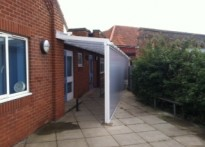 St Michael's CE Primary School - Wall Mounted Canopy