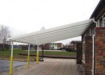 Kinsale Middle School - Wall Mounted Canopy