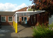 Morelands C of E Middle School - Wall Mounted Canopy