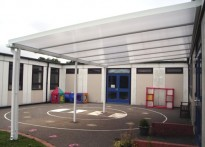 Waveney C of E First School - Wall Mounted Canopy