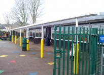 Peartree Way Nursery School - Wall Mounted Canopy - 1st install