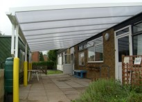 Greenfield Children's Centre - Wall Mounted Canopy