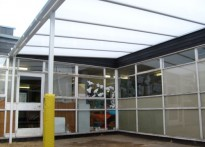 George Street Junior & Infant School - Wall Mounted Canopy