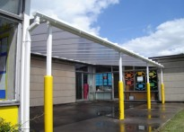 Hobbs Hill Wood Primary School - Wall Mounted Canopy - First Install