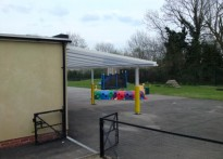 Hobbs Hill Wood Primary School - Wall Mounted Canopy - Second Install