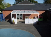 Newport Childrens Centre - Wall Mounted Canopy