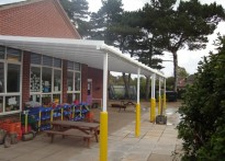Mundesley First School - Wall Mounted Canopy