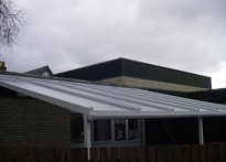 Little Hadham Primary School - Wall Mounted Canopy - First Install