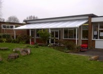 The Russell School - Wall Mounted Canopy
