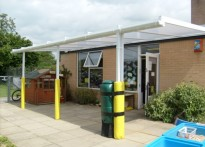 Ixworth CE VC Primary School - Wall Mounted Canopy