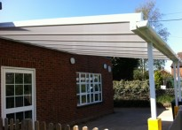 London Colney Childcare Centre- Wall Mounted Canopy