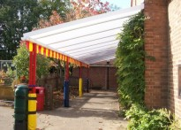 St Edmundsbury C of E Primary School - Wall Mounted Canopy