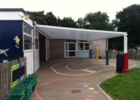 Grange Community Primary School - Wall Mounted Canopy