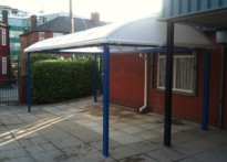 Moston Lane Primary School - Wall Mounted Canopy