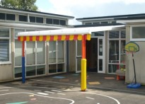 South Oxhey Children's Centre - Wall Mounted Canopy