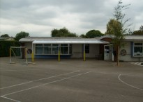 Grove Park Primary School - Wall mounted canopy