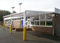 St George's C of E Primary School - Disability Access Wall Mounted Canopy