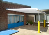 Whitehouse Infant School - Wall Mounted Canopy