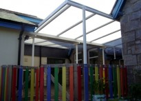 Plympton St Mary's C of E Infant School - Wall Mounted Canopy