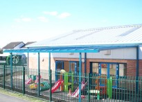 Moorland Park Community Centre - Wall Mounted Canopy