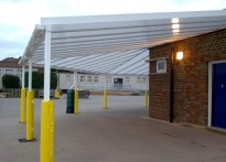 Roxbourne Middle School - Wall Mounted Canopy