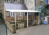 Hebden Royd CE Primary School - Wall Mounted Canopy