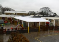 Primrose Lane Primary School - Wall Mounted Canopy - 1st Installation