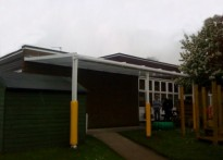 St Hilda's CE Primary School - Wall Mounted Canopy