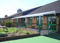 Alexandra Community Primary School - Wall Mounted Canopy