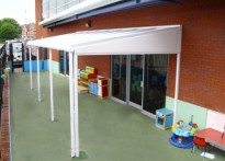 Harpurhey Neighbourhood Nursery - Wall Mounted Canopy