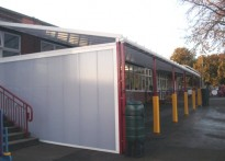 All Saints CP School - Wall Mounted Canopy