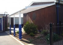 Partlington Primary School - Wall Mounted Canopy