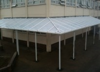 St John Fisher Catholic High School - Wall Mounted Canopy