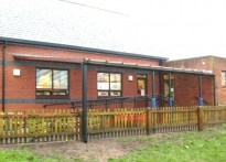 St Peter's C of E Primary School, Lancashire - Wall Mounted Canopy