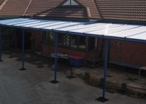 St. Paul's Peel CE Primary School - Wall Mounted Canopy