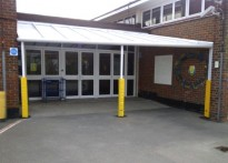 Fleecefield Primary School - 2nd Wall Mounted Canopy