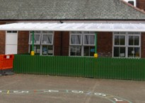 Woodslee Primary School - Wall Mounted Canopy