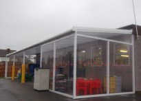 Roxbourne Infants School - Wall Mounted Canopy