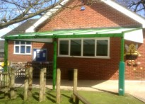 Anson C of E Primary School - Wall Mounted Canopy