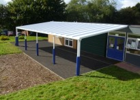 St Gabriel's RC Primary School - Wall Mounted Canopy